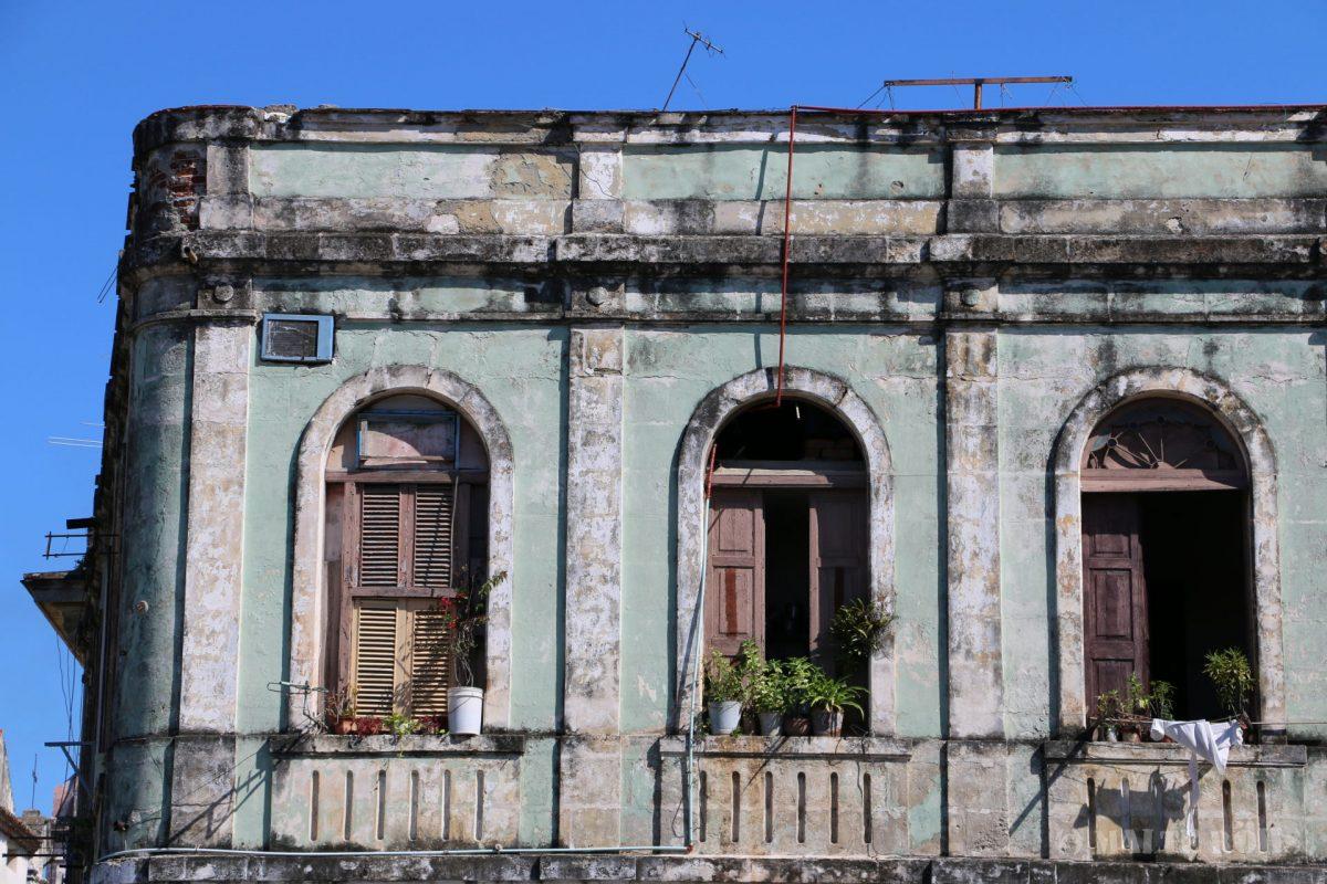 Beautiful colonial buildings in La Habana, Cuba